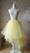 YELLOW Tiered Long Maxi Tulle Skirt Yellow Princess Skirt Party Skirt Plus NWT