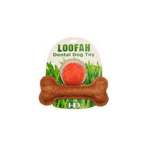 HIP DOGGIE DENTAL DOG TOY PLAY TIME TEETH LOOFAH LARGE - $15.67