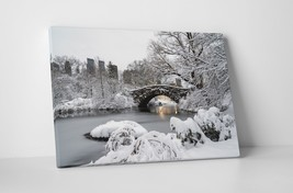 New York Central Park Gapstow Bridge Gallery Wrapped Canvas Print 30x20 ... - $44.50+