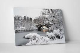 New York Central Park Gapstow Bridge Gallery Wrapped Canvas Print 30x20 ... - $44.50+