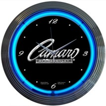 "GM Camaro Script Neon Clock 15""x15"" - $69.00"