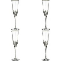 Waterford Lismore Essence Gold Champagne Flute 4 Four Flutes #155974 New - $302.94