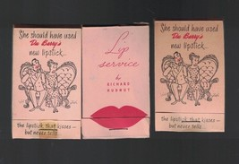 Lipstick Tissue Blotter Paper Lot of 3 Vintage Du Barry's Richard Hudnut - $9.67