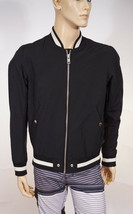Diesel Men Black Varsity Military Bomber Jacket Coat M - $109.99