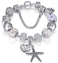 925 Silver Plated Creative Charm Bracelet DIY For Valentine's Day - $47.97