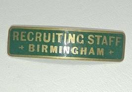 WWI British Army Recruiting Staff Birmingham JR Gaunt London Hat Cap Badge - $49.45