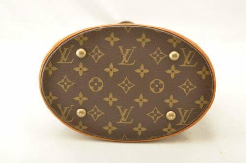 LOUIS VUITTON Monogram Bucket PM Shoulder Bag M42238 LV Auth 11122 **Sticky image 9