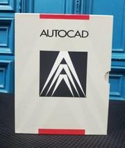 SUPER VINTAGE AutoCAD 1987 R9 DOS Software Floppy Discs Complete Open Bo... - $494.69