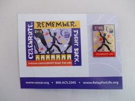 """American Cancer Society Relay for Life 2008 """"Celebrate Life"""" Lapel Pin New - $2.99"""
