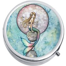 Mermaid Full Moon Medicine Vitamin Compact Pill Box - $9.78