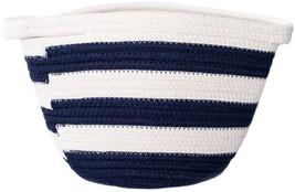 "Lion Brand Cotton Rope Basket 8""X7""X6.75""-Navy Blue - $19.07"