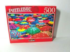 Colorful Umbrellas Parasol Art Exhibit Artist Borka Kiss Jigsaw Puzzles ... - $8.90