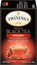 Twinings of London Mixed Berry Black Tea Bags, 20 Count Pack of 6 - $20.09