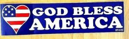 GOD BLESS AMERICA - 911 COMMEMORATIVE USA FLAG DECAL- AMERICAN FLAG DESIGN - $1.48
