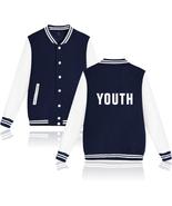 XXS-4XL Shawn Mendes YOUTH Printed Baseball Jacket Warm Buckle Outwear Tops - $19.00+