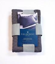Fieldcrest Luxury Diamond Matelasse Molten Lead Gray Standard/Queen Pill... - $19.31