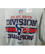 Reebok NFL HOUSTON TEXANS 2011 AFC SOUTH CHAMPIONS T-SHIRT MEN'S Size:XXL - $22.94