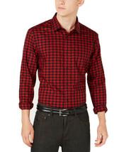 Alfani Men's Regular Fit Lewis Plaid Shirt (Red, XXL) - $41.77