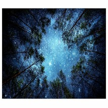 Psychedelic Forest Trees and Starry Sky Tapestry - £30.59 GBP