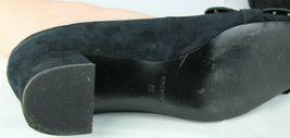 Nine West women's shoes loafer leather upper black medium heel size 9M image 10