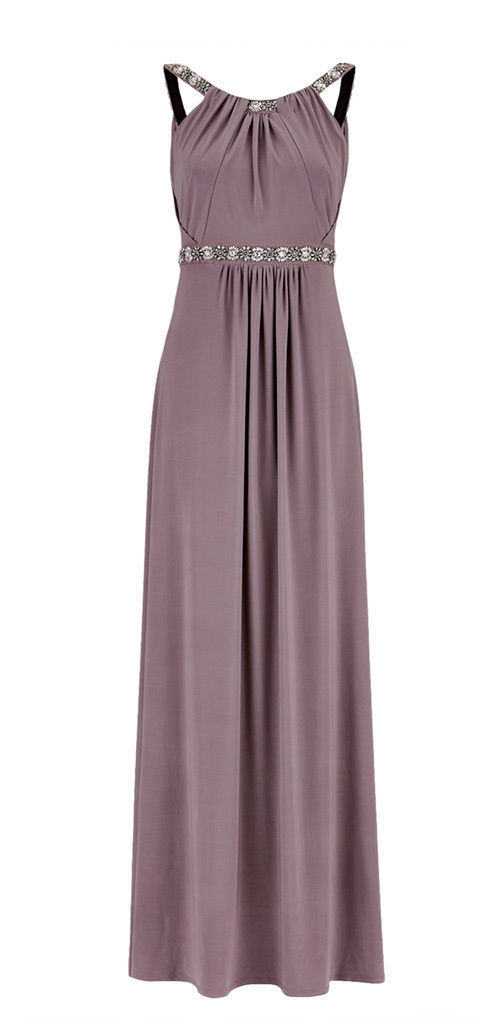 MONSOON Giselle Mink Jersey Maxi Dress BNWT