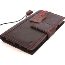 Genuine Natural leather Case for iPhone 7 wallet cover holder magnetic Brown - $44.99