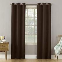 "Sun Zero Becca Energy Efficient Grommet Curtain Panel, 40"" x 84"", Chocolate - $16.08"