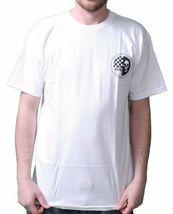 KR3W Skateboarding Mens White Black Skraw Ska Skull Regular T-shirt K52559 NWT image 3