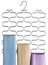 DecoBros Supreme 23 Loop Scarf/Belt/Tie Organizer Hanger Holder, Chrome - $16.37