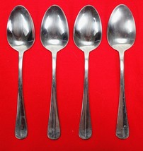 4X Dinner Table Spoons Wallace Silver Hartford Stainless Glossy Flatware... - $23.76