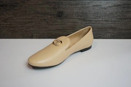 100% Authentic NEW Chanel Beige Slip On Crystal CC Logo Loafers Shoes Flats image 3