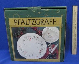 Pfaltzgraff Winterberry 3 Piece Place Setting Dinner Plate Cup & Saucer NOS - $18.80