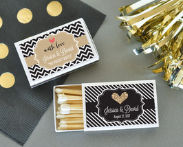 Personalized Themed Match Boxes Anniversary Party Wedding Bridal Shower ... - $61.70+