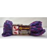 Lion Brand Imagine Prints Ribbon Scarf Yarn - 1 Skein Color Purple Haze ... - $8.50
