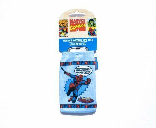 Marvel Comics Spiderman Phone Sock blue Pouch Case