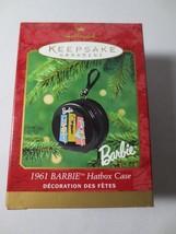 Hallmark Keepsake 2001 Barbie 1961 Hatbox Case Christmas Ornament Nib - $10.00