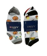 Boys Envy no show socks Size 6-8 total 6 pairs summer Food Sports  - $10.14