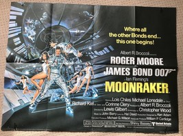 James Bond Moonraker Original UK Quad Film Movie Poster. - $440.48