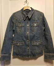 Gap Women's Jean Jacket, Blue, Medium Wash, Stretch Cotton, Size S, Pre-... - $35.99