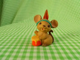 Vintage Hallmark Merry Miniature Thanksgiving 1984 Mouse with Drum and F... - $9.89