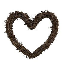 Heart Shape Natural Grapevine Wreath Ring Wreath DIY Craft Vines Base Gr... - $13.10