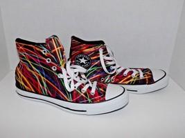 Converse Chuck Taylor High Top Laser Neon Lights Shoes Men's 8 Women's 10 (x) - $74.24