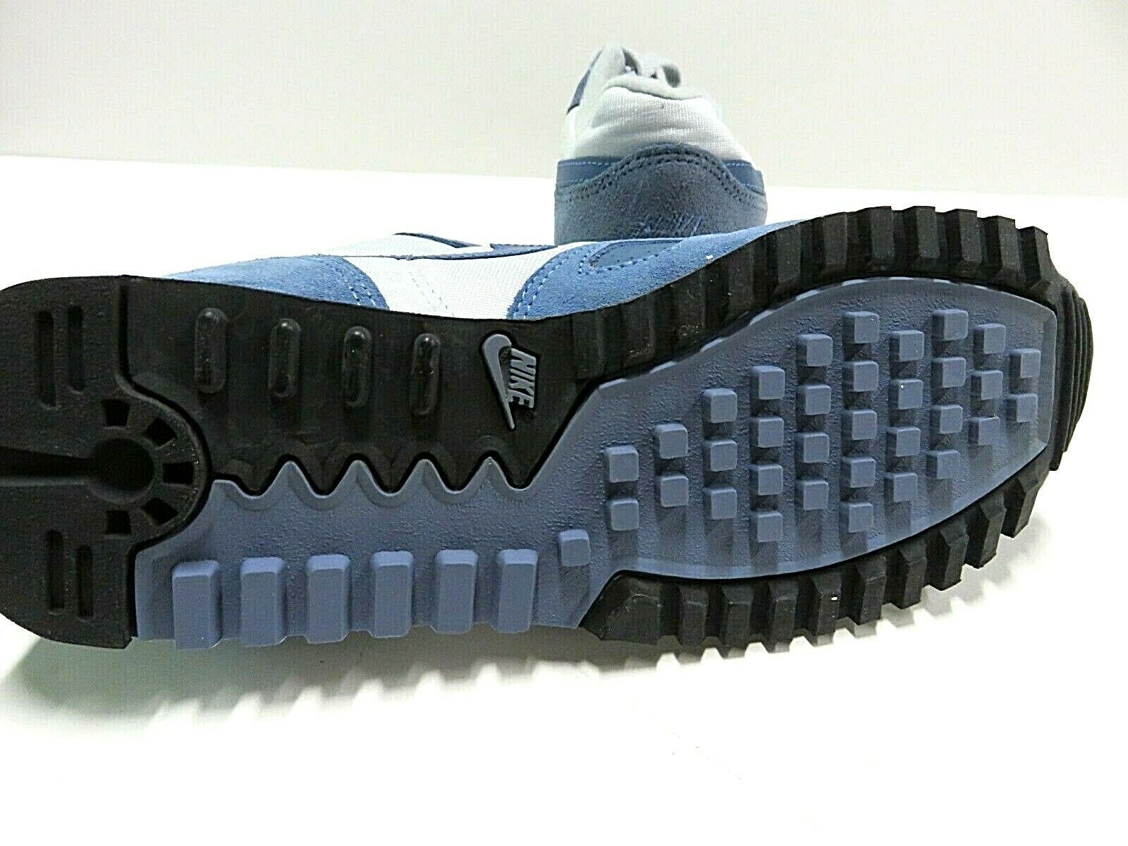 NOS 80s Nike Airliner Waffle Runners Sneaker Blue/Grey Tennis Shoes Men's Sz 6.5