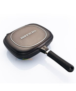 Happy call Double sided pan pressure Jumbo grill frying pan diamond Happ... - $77.34