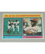1976 Topps #461 NL AL Championships Reds Sweep Bucks Bosox Surprise A's ... - $7.90