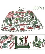 500 pcs Military Playset Plastic Toy Soldiers Army Men 4cm Figures & Acc... - $25.91