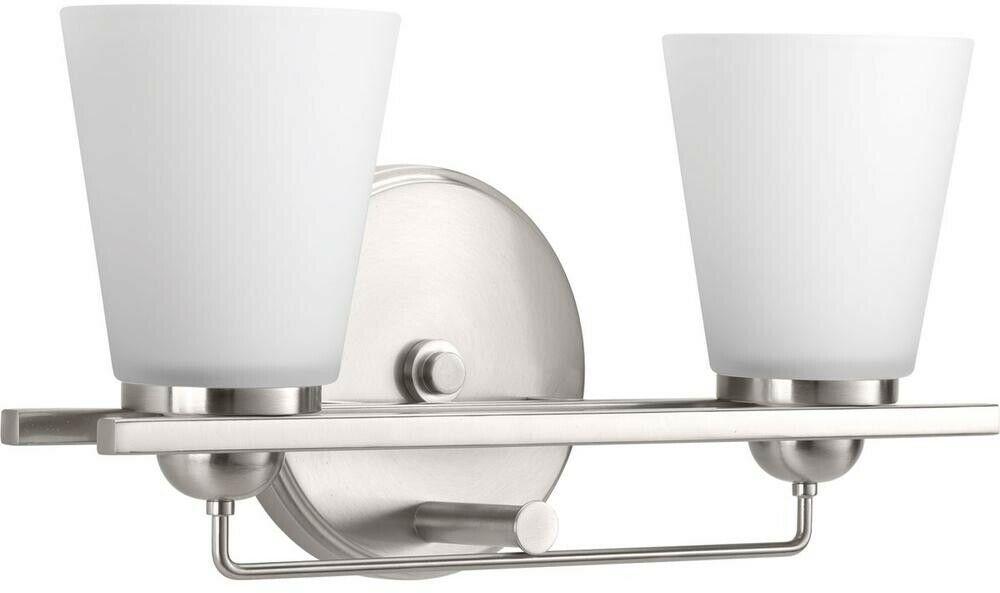 Bathroom Vanity Light Glass Shades 2-Light Geometic Linear