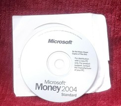 Microsoft Money 2004 Standard Software Disc - $9.99
