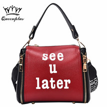 Women bag female New small square bag fashion wide shoulder strap Messenger bag  - $53.77