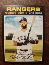 x1 2020 Topps Heritage Base #38 Rougned Odor Texas Rangers Baseball Card... - $2.50
